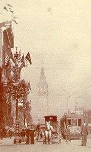 Amerikansk gadebillede fra årsskiftet 1914/15