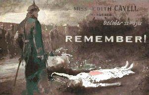 Edith Cavell, engelsk sygeplejerske der blev skudt af tyskerne
