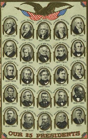 De første 25 amerikanske præsidenter