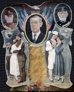 Wilson flankeret af Pershing og Sims