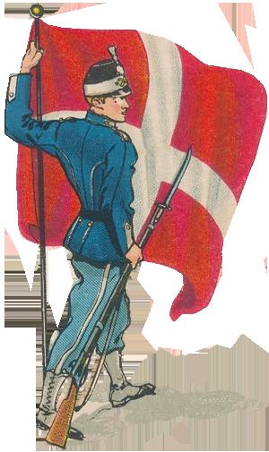 Dansk soldat med Dannebro