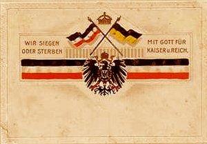 Tysk postkort fra 1. Verdenskrig med sejrs håb