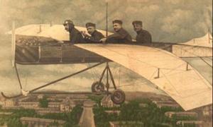 Pilot og 3 passagerer