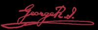 Geroge R.I signatur (trykt)