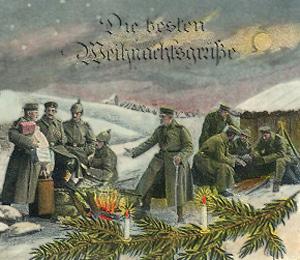 Tyske soldater fejre Julen