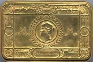 Cigaret etui, som de engelske soldater fik julen 1914