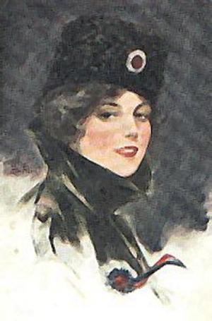 Russisk propaganda billed fra 1. Verdenskrig
