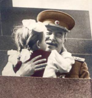 Stalin med en pige