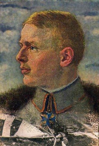 Oswald Boelcke bærende Pour le Merite