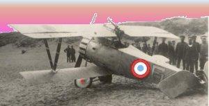 Et fransk nødlandet fly ved Ostende