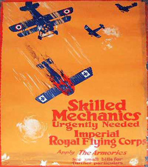 Canadisk hverveplakat for Royal Flying Corps