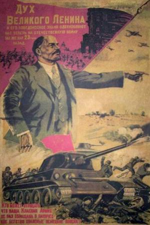 Vladimir Lenin - sovjetisk propagandaplaket