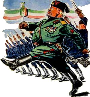 Magasinforside med Mussolini fra 1942