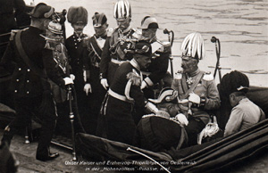 Wilhelm og Frantz Ferdinand i Kiel i 1905