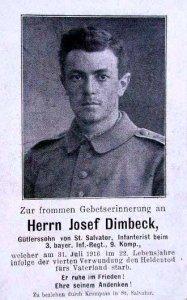 et Dødskort til en tysk soldat