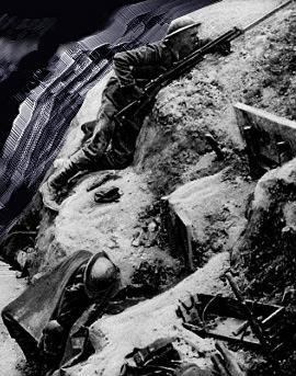 Engelsk soldat i en skyttegrav