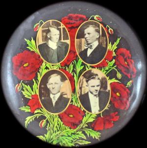 Badge med fire sikkert faldne mænd