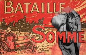 Bataille Somme - soldat bærer såret