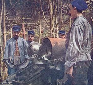 Franske artillerister ved Verdun