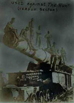 Kanon brugt mod tyskerne ved Verdun