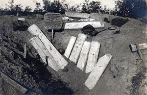 tysk bunker ramt af en fuldtræffer