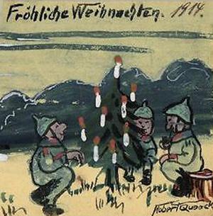 Tyske soldater fejrer Julen 1914