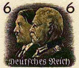 Hitler og Hindenburg som frimærke