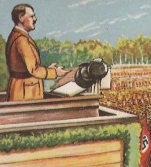 Adolf Hitler på talerstolen