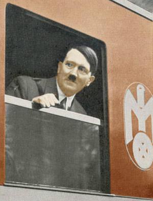 Hitler i et togvindue