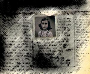 En side fra Anne Franks dagbog
