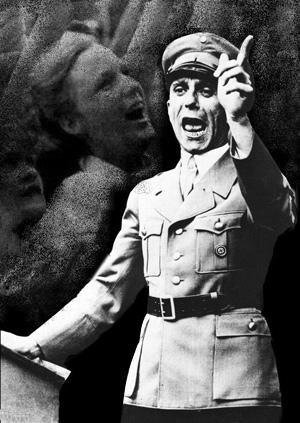 Goebbels på talerstolen
