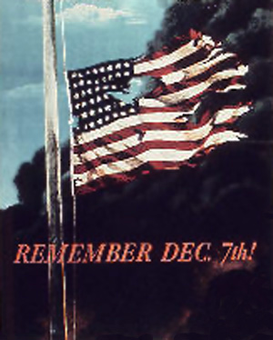 Amerikansk plakat - Remember Pearl Harbor