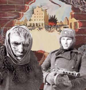 Tysk soldat overgiver sig til Den Røde Hær