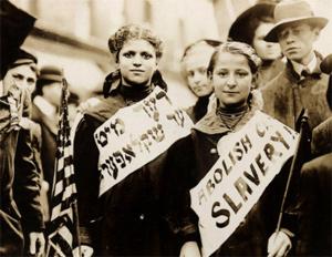 demonstration imod børnearbejde i 1908