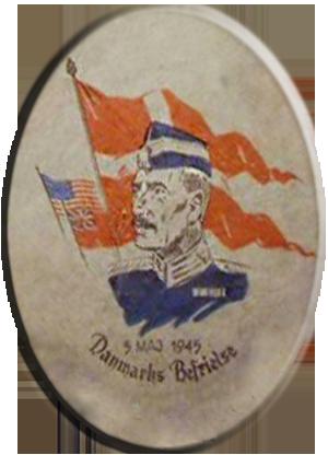 Kongen og danske flag den 5. maj