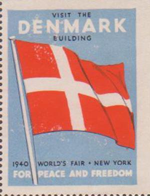 Dansk frimærke fra Verdensudstillingen i New York fra 1940