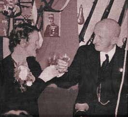 Sølvbryllupsbillede med Marius og Gudrun.