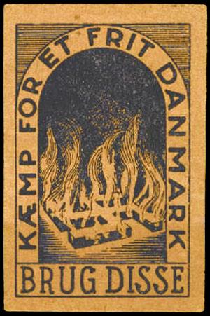 Tændstikæske fra Frit Danmark
