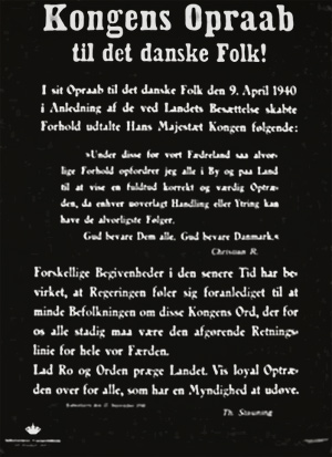 Kongens opråb fra den 9 april 1940