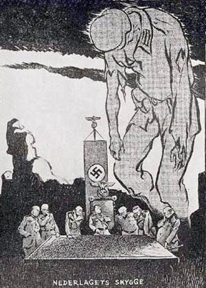 Nederlagets skygge - tegning fra modstandskampen