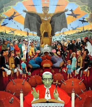 Maleriet Nye Guder af Harald Englund fra 1940
