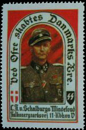 Et velgørenheds frimærke til fordel for Schalburgs Mindefond