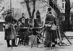 Tyske radiotropper i kassernegården tilhørende Amalienborg