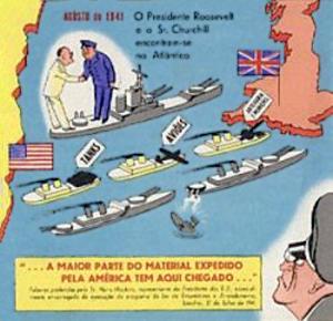 Tyskerne påstod de ville sænke alle skibe på Atlanterhavet - Portugisisk satire