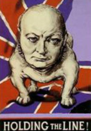 Churchill plakat fra 1942 som blev brugt i USA