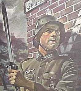 Tysk soldat i et besat land