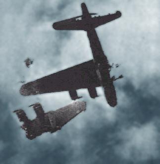 Flyvende Fæstning der har mistet en vinge