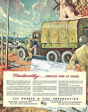 reklame som viser amerikanske soldater i Tyskland