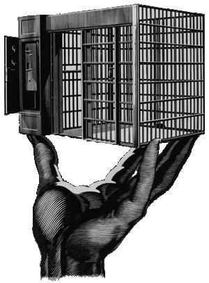 En tegning lavet af en tysk krigsfange
