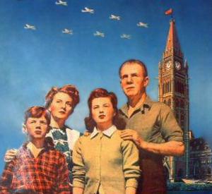Familie foran London (Fra kalender)